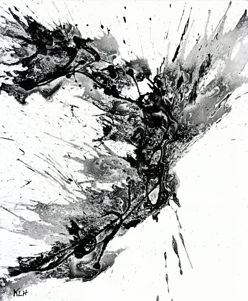 Stylin In Black White Painting Series 1958