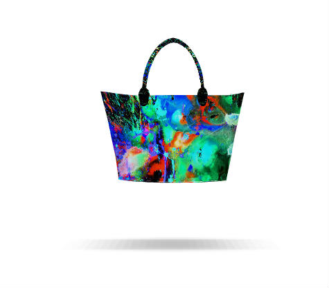 Custom Tote Bag 4chaotic Craziness Series In Splish Splash Night Time 3