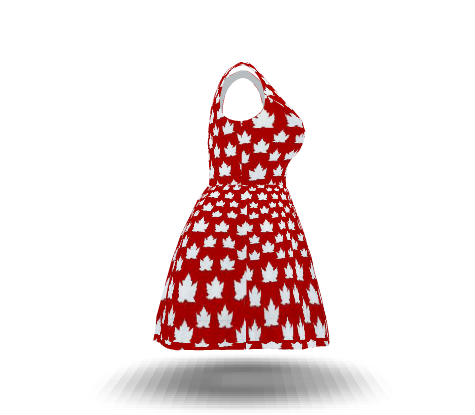Canada Dresses Cute Canada Flag Dresses Plus Size Custom Fit N